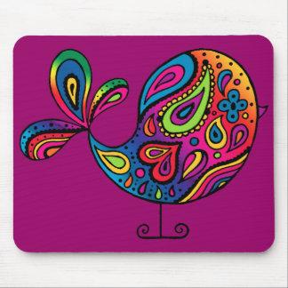 Pájaro Mousepad del arco iris