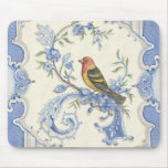 Pájaro Mousepad del Chinoiserie de Kate McRostie Alfombrillas De Ratón