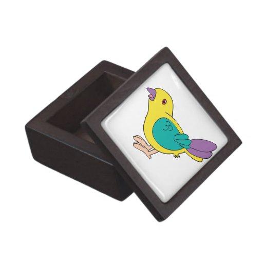 Pájaro multicolor del dibujo animado cajas de regalo de calidad