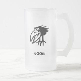 Pájaro n00b taza de cristal