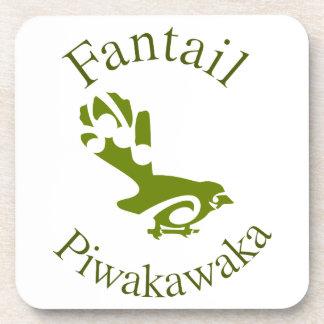 Pájaro nativo PIWAKAWAKA de Nueva Zelanda de la co Posavasos