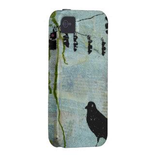 """Pájaro negro con la luz de parada """"caricatura excé iPhone 4 carcasa"""
