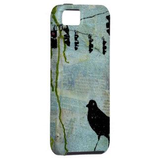 """Pájaro negro con la luz de parada """"caricatura excé iPhone 5 Case-Mate carcasas"""