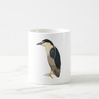 pájaro Negro-coronado de la garza de noche Taza De Café