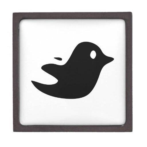 Pájaro negro del dibujo animado cajas de regalo de calidad