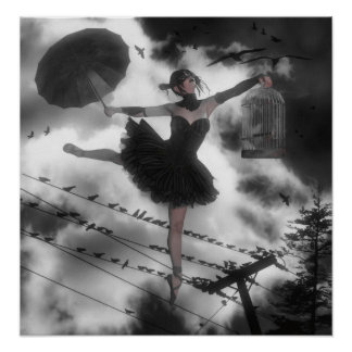 Pájaro negro poster