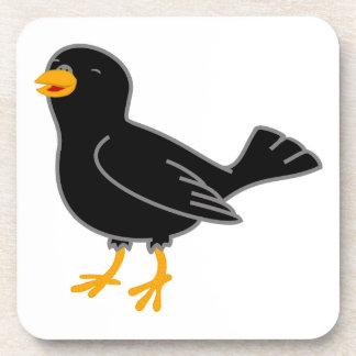 Pájaro negro posavasos