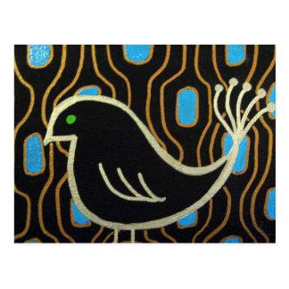Pájaro negro retro de la MOD Postal