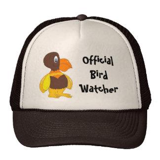 Pájaro oficial del dibujo animado del vigilante de gorros bordados