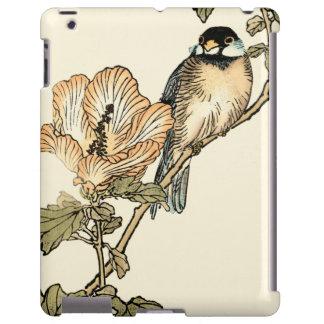 Pájaro oriental encaramado en rama funda para iPad