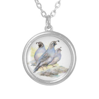 Pájaro original de las codornices de California de Colgante Redondo