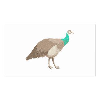 Pájaro. Peahen. Tarjeta De Visita