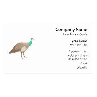 Pájaro. Peahen. Plantillas De Tarjetas De Visita