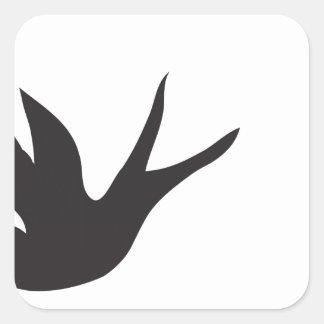 Pájaro Pegatina Cuadrada