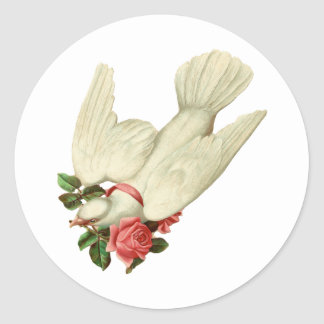 Pájaro-Pegatina del amor Pegatina Redonda