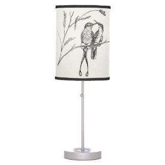 Pájaro personalizado colibrí de la cola de la esta lámpara de mesa