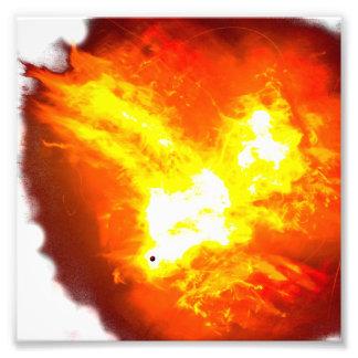 Pájaro Phoenix del fuego hecha del fuego Foto