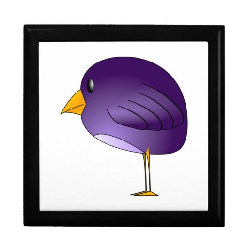 Pájaro púrpura del dibujo animado caja de regalo