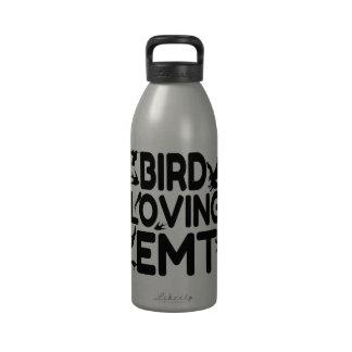 Pájaro que ama EMT Botella De Agua Reutilizable