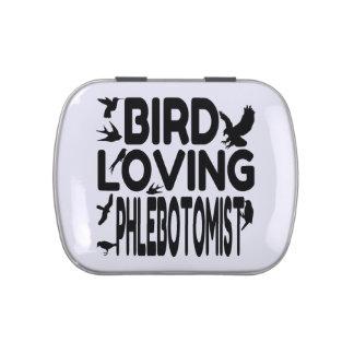 Pájaro que ama Phlebotomist Jarrones De Caramelos