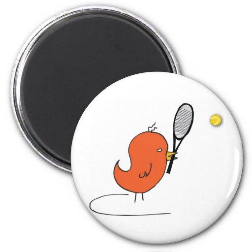 Pájaro que se divierte 0033 nc imán redondo 5 cm