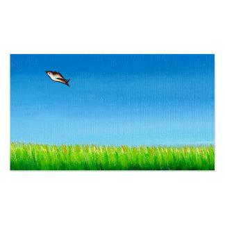 Pájaro que vuela el arte original de la pintura co plantilla de tarjeta personal