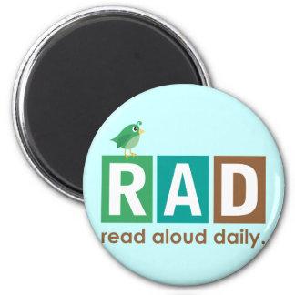 Pájaro RAD - En voz alta leído regalo diario de la Imán Redondo 5 Cm