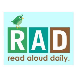 Pájaro RAD - En voz alta leído regalo diario de la Postal