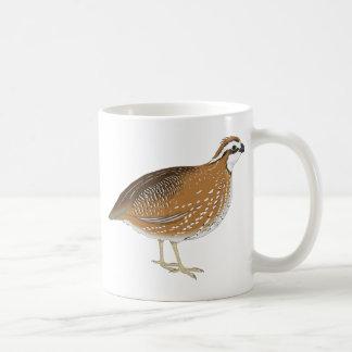 Pájaro realista de las codornices taza de café