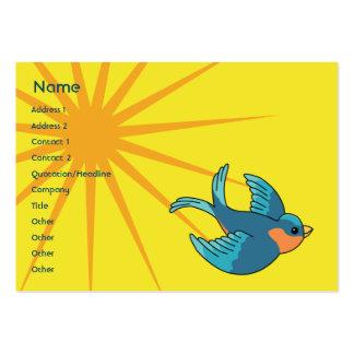 Pájaro - rechoncho tarjetas de visita grandes