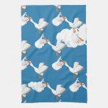 Pájaro recién nacido del bebé y de la grúa toallas