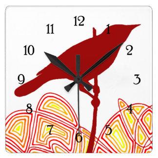 Pájaro Reloj Cuadrado