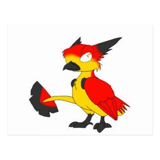 Pájaro reptil Bandera-Coloreado alemán Postal