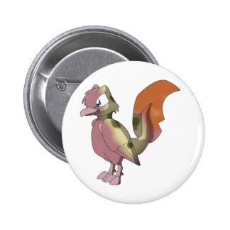 Pájaro reptil de Koi - raza mezclada 1 Pin Redondo De 2 Pulgadas