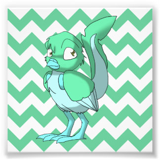 Pájaro reptil del verde/de los azules claros de fotografías