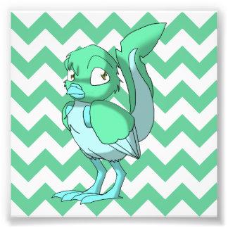 Pájaro reptil del verde de los azules claros de ma