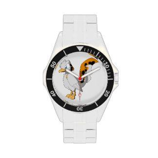 Pájaro reptil Koi-Coloreado Reloj De Mano