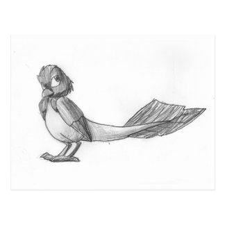 Pájaro reptil Tradicional-Dibujado Postal