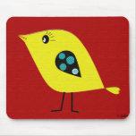Pájaro retro moderno alfombrilla de ratones