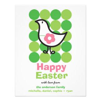 Pájaro retro Pascua caprichosa linda del polluelo  Invitación Personalizada