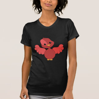 Pájaro rojo del alboroto playera