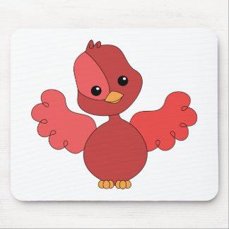 Pájaro rojo del alboroto alfombrilla de ratón