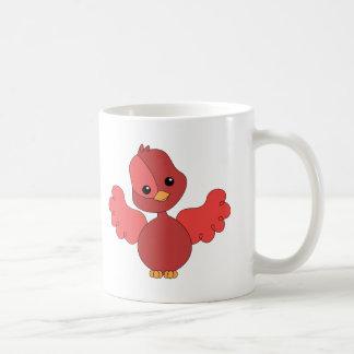 Pájaro rojo del alboroto taza de café