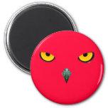 Pájaro rojo enojado iman
