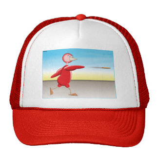 Pájaro rojo gorras