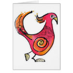 Pájaro rojo grande Notecard Tarjeton