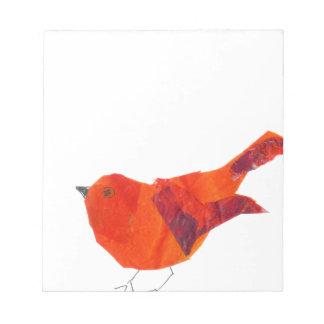 Pájaro rojo lindo blocs de papel