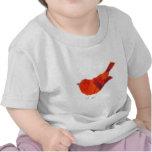 Pájaro rojo lindo camisetas