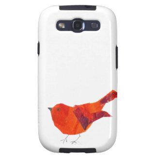 Pájaro rojo lindo galaxy s3 funda