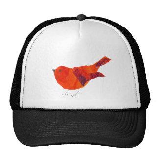 Pájaro rojo lindo gorras de camionero